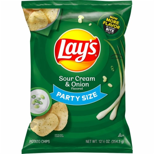Lay's® Sour Cream & Onion Flavored Potato Chips Perspective: back