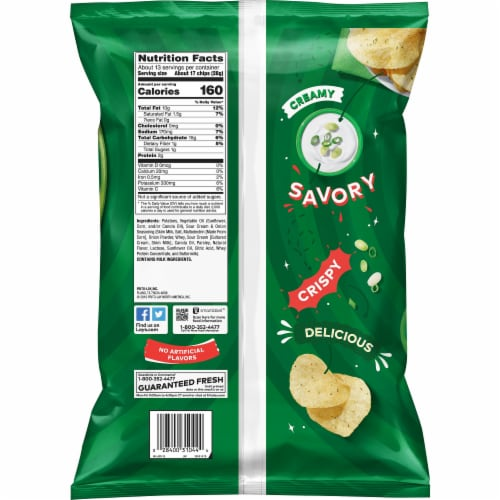 Lay's Potato Chips Sour Cream & Onion Flavor Snacks Party Size Bag Perspective: back