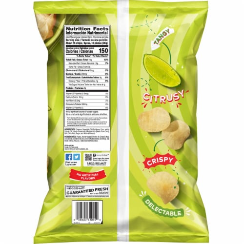 Lay's® Limon Potato Chips Party Size Perspective: back