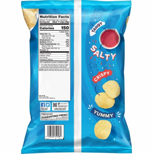 Lay's Salt & Vinegar Flavor Potato Chips Party Size Bag Perspective: back