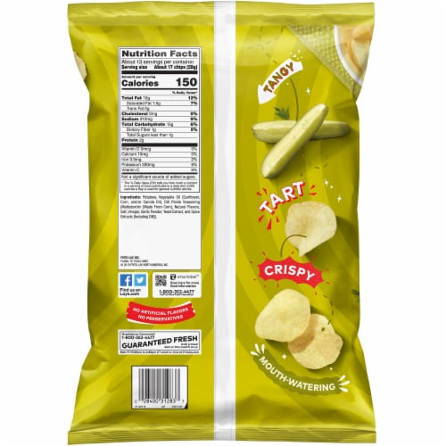 Lay's® Dill Pickle Flavored Potato Chips Perspective: back