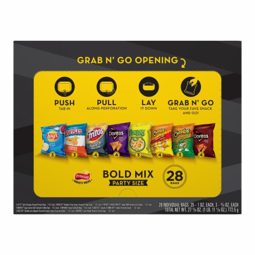 Frito-Lay Bold Party Mix Snacks and Chips Variety Multi Pack Perspective: back