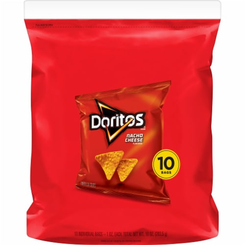 Doritos® Nacho Cheese Flavored Tortilla Chips Perspective: back