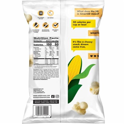 Smartfood Smart50™ White Cheddar Flavored Popcorn Snacks Perspective: back