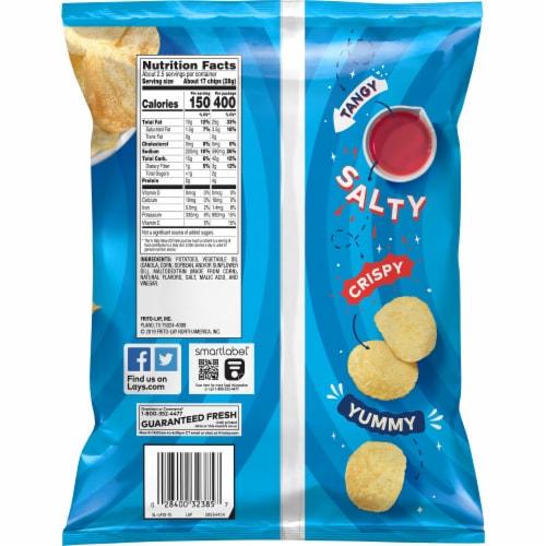 Lay's Potato Chips Salt & Vinegar Flavored Snacks Perspective: back