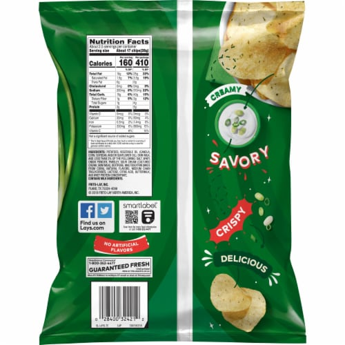 Lay's® Sour Cream & Onion Potato Chips Perspective: back