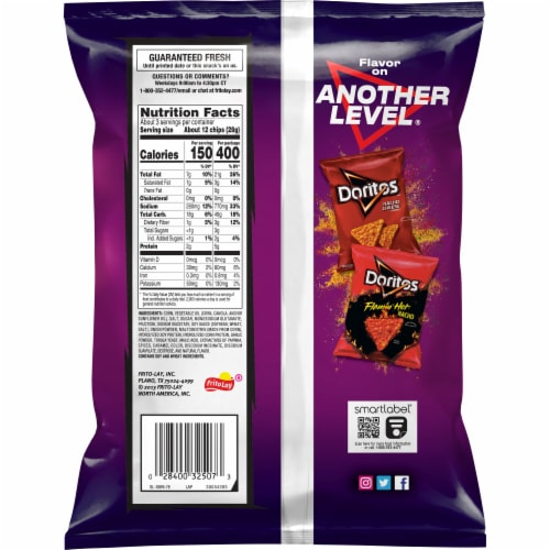 Doritos Spicy Sweet Chili Flavored Tortilla Chips Perspective: back
