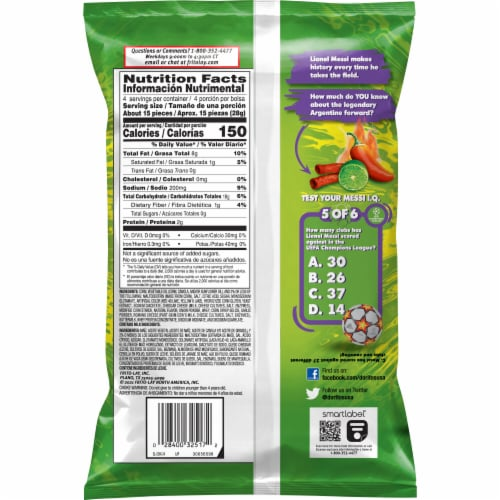 Doritos® Dinamita Chile Limon Rolled Tortilla Chips Perspective: back