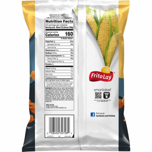 Fritos® Honey Barbeque Flavor Twists Corn Snacks Perspective: back
