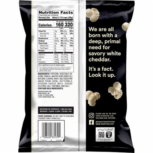 Smartfood® White Cheddar Popcorn Perspective: back