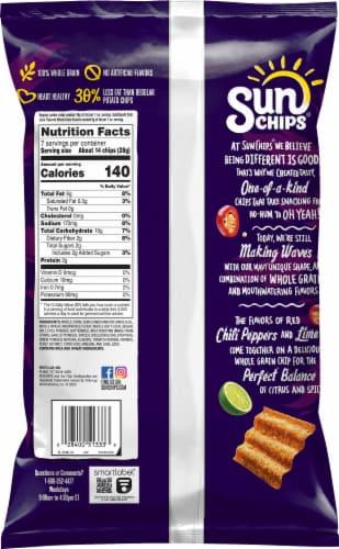 Sun Chips Chili Limon Whole Grain Snacks Perspective: back
