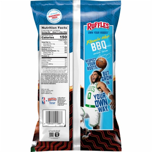 Ruffles® Flamin' Hot® BBQ Potato Chips Perspective: back