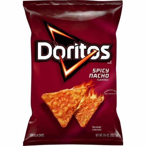 Doritos® Spicy Nacho Flavored Tortilla Chips Perspective: back