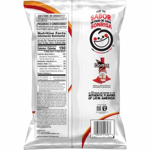 Doritos Tapatio Flavored Tortilla Chips Perspective: back