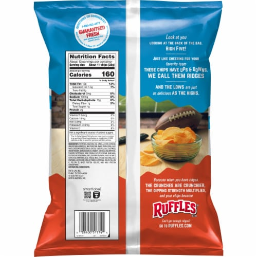 Ruffles Cheddar & Sour Cream Potato Chips Party Size Perspective: back