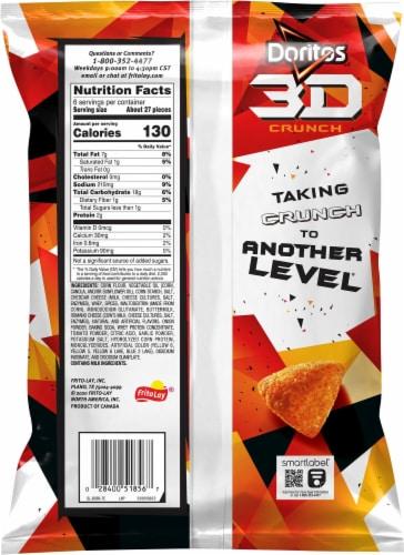 Doritos 3D Crunch Chili Cheese Nacho Corn Snacks Perspective: back