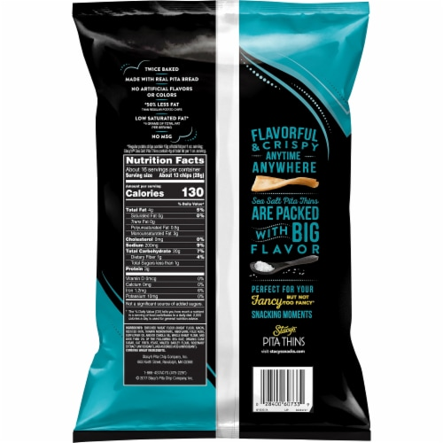 Stacy's® Pita Thins Sea Salt Snack Chips Perspective: back