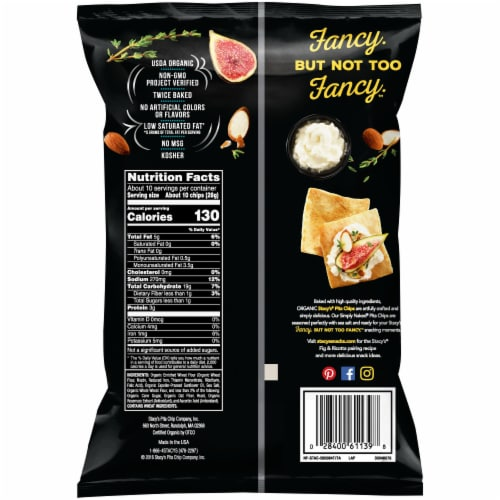 Stacy's Simply Naked Organic Baked Pita Chips Snacks 10.25 oz Perspective: back