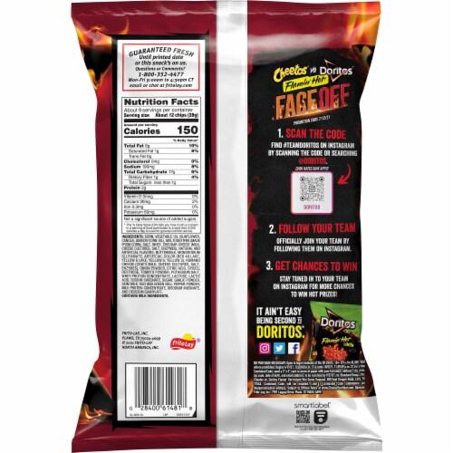 Doritos Xxtra Flamin' Hot Nacho Flavored Tortilla Chips Perspective: back