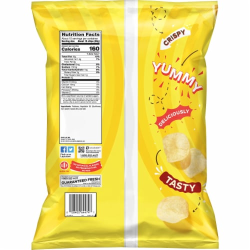 Lay's Potato Chips Classic Flavor Snacks 13 oz Party Size Bag Perspective: back