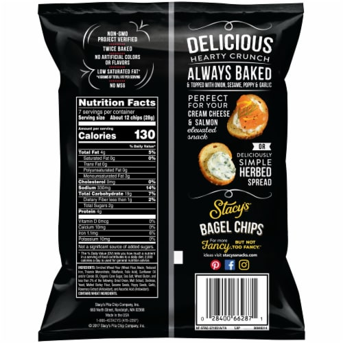 Stacy's Everything Bagel Chips Snacks Perspective: back