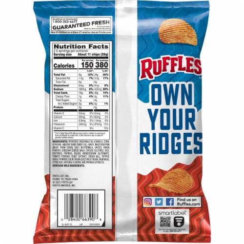 Ruffles Chili Cheese Potato Chips Perspective: back