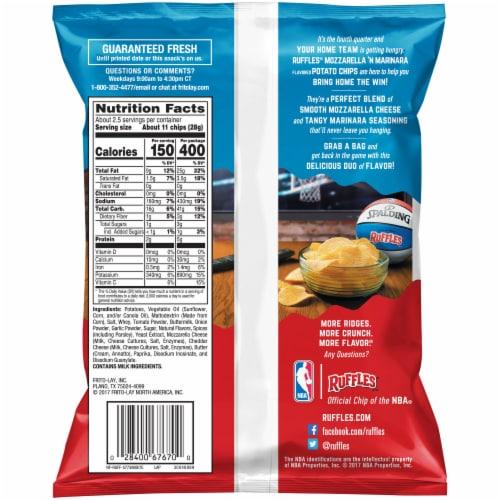 Ruffles Mozzarella 'N Marinara Flavored Potato Chips Perspective: back