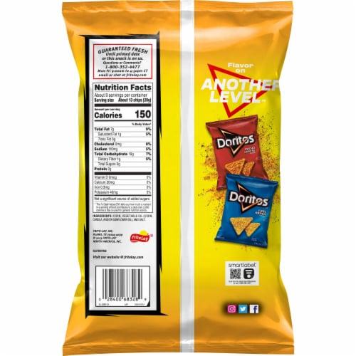 Doritos Toasted Corn Tortilla Chips Perspective: back