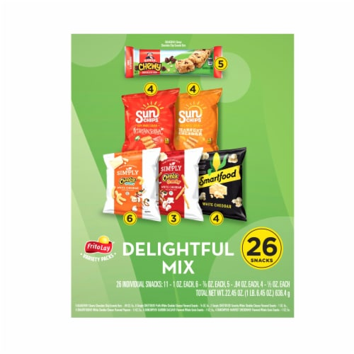 Frito-Lay® Delightful Mix Snacks Variety Pack Perspective: back