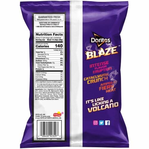 Doritos Blaze Flavored Tortilla Chips Perspective: back