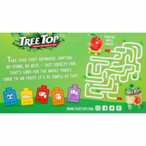 Tree Top Applesauce Pouches Perspective: back
