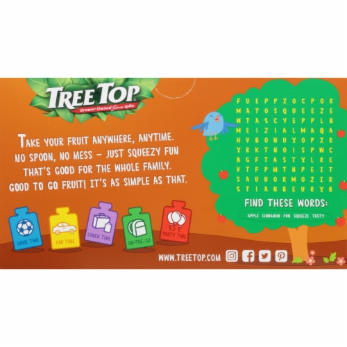 Tree Top Cinnamon Apple Sauce Pouches Perspective: back