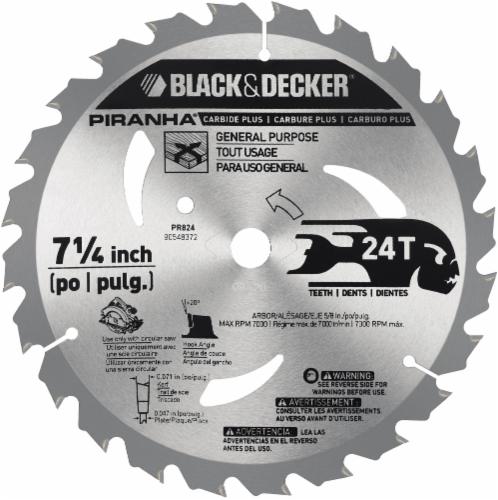 BLACK + DECKER Piranha 24T Carbide Plus Saw Blade Perspective: back