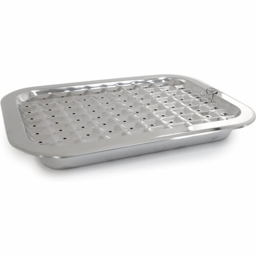 Norpro 2 Piece Stainless Steel Rectangular Oven Roasting Broil Pan and Drip Tray Perspective: back