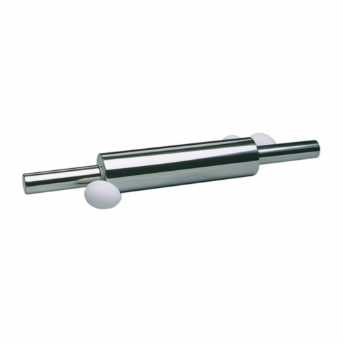 Norpro 10 Inch Professional Stainless Steel Dough Roller Kitchen Rolling Pin Perspective: back