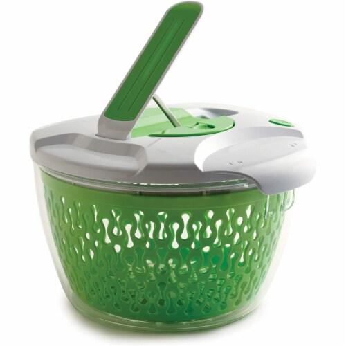 Norpro 6.8 Quart Deluxe Removable Colander Strainer Herb Vegetable Salad Spinner Perspective: back
