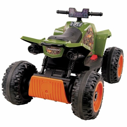 Huffy Renegade Battery Ride-On ATV - Camo Green Perspective: back
