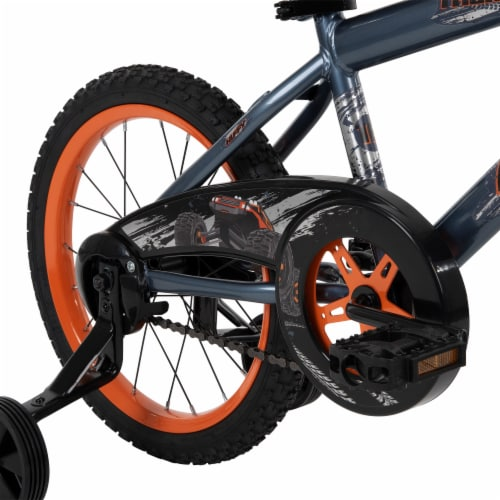 Huffy Pro Thunder Boy's Bicycle - Orange/Black Perspective: back