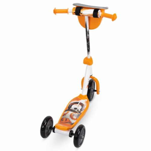 Huffy 78848 Star Wars BB8 Preschool Toddler Kick Scooter with Storage, Orange Perspective: back
