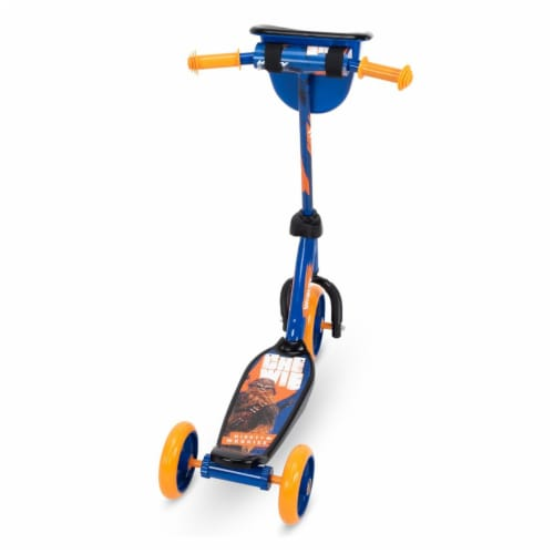 Huffy 78858 Star Wars Chewbacca Preschool Toddler Scooter with Storage, Blue Perspective: back