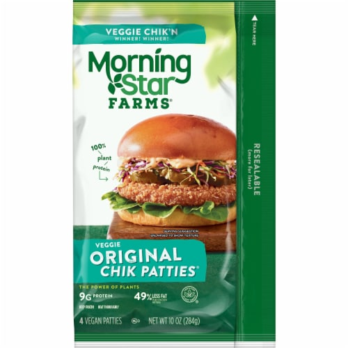 MorningStar Farms Plant-Protein Original Meatless Chicken Patties Perspective: back