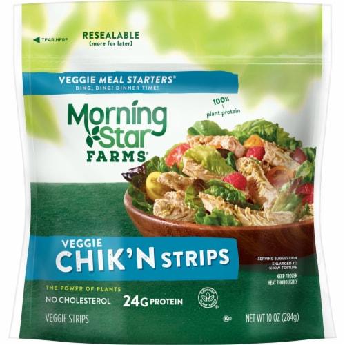 MorningStar Farms Frozen Veggie Meal Starters Chik'n Strips Original Perspective: back