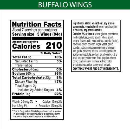 MorningStar Farms Frozen Veggie Vegan Buffalo Wings Family Size Perspective: back