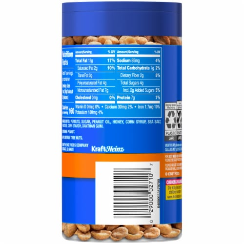 Planters Honey Roasted Peanuts Perspective: back
