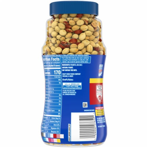 Planters Lightly Salted Dry Roasted Peanuts Perspective: back