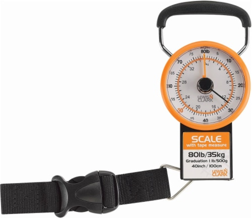 Lewis N. Clark Luggage Scale with Weight Marker - Orange Perspective: back