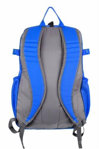 Under Armour Hustle II Kids Baseball Softball Bat Backpack Equipment Bag, Blue Perspective: back