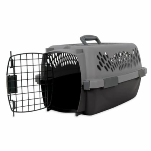 Aspen Pet Porter 26 Inch Hard Sided Travel Crate Carrier Kennel, Black and Gray Perspective: back