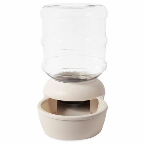 Aspen Pet Lebistro 4 Gallon Automatic Water Dispenser Bowl, Bleached Linen, Lg Perspective: back