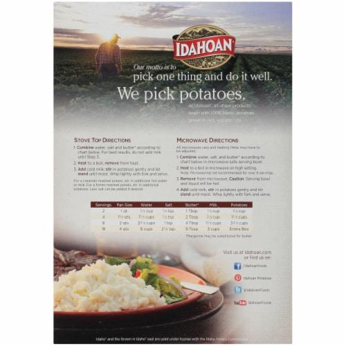 Idahoan® Original Mashed Potatoes Perspective: back